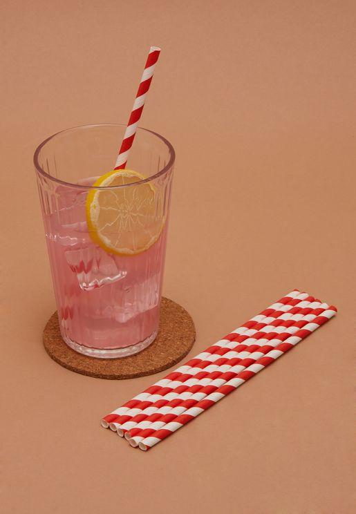 Striped Straws Set