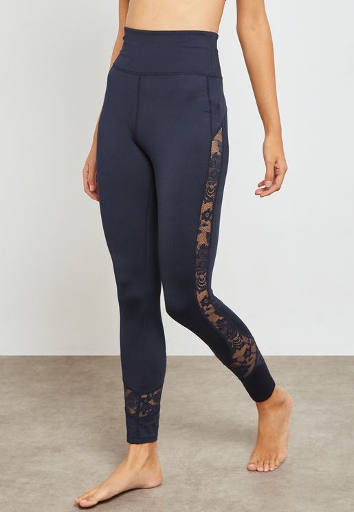 Lace Mesh Detail Leggings