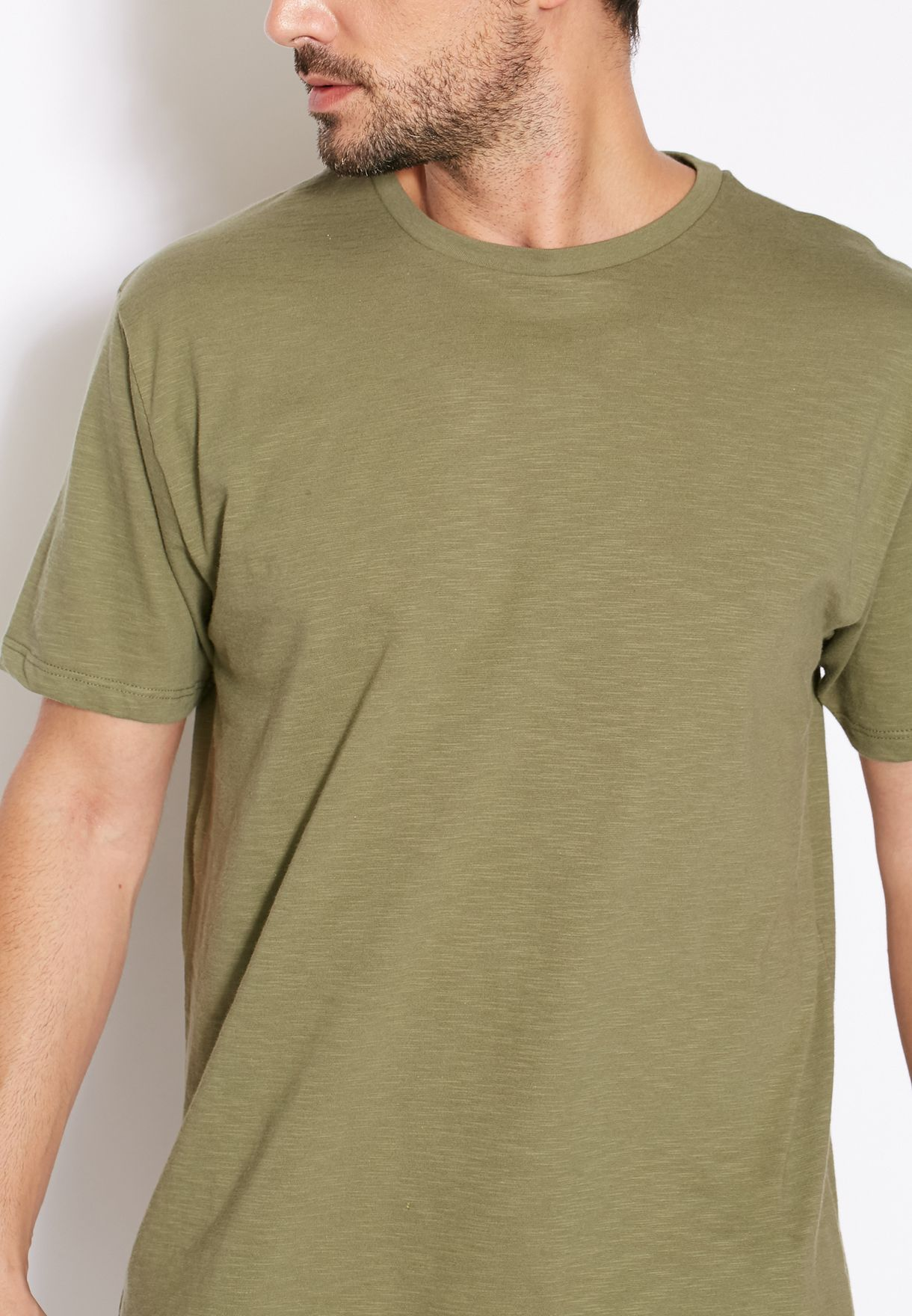 Long Line Basic T-Shirt