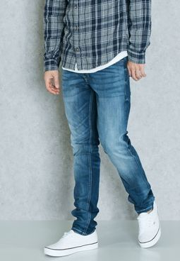 Glenn Slim Fit Mid Wash Jeans