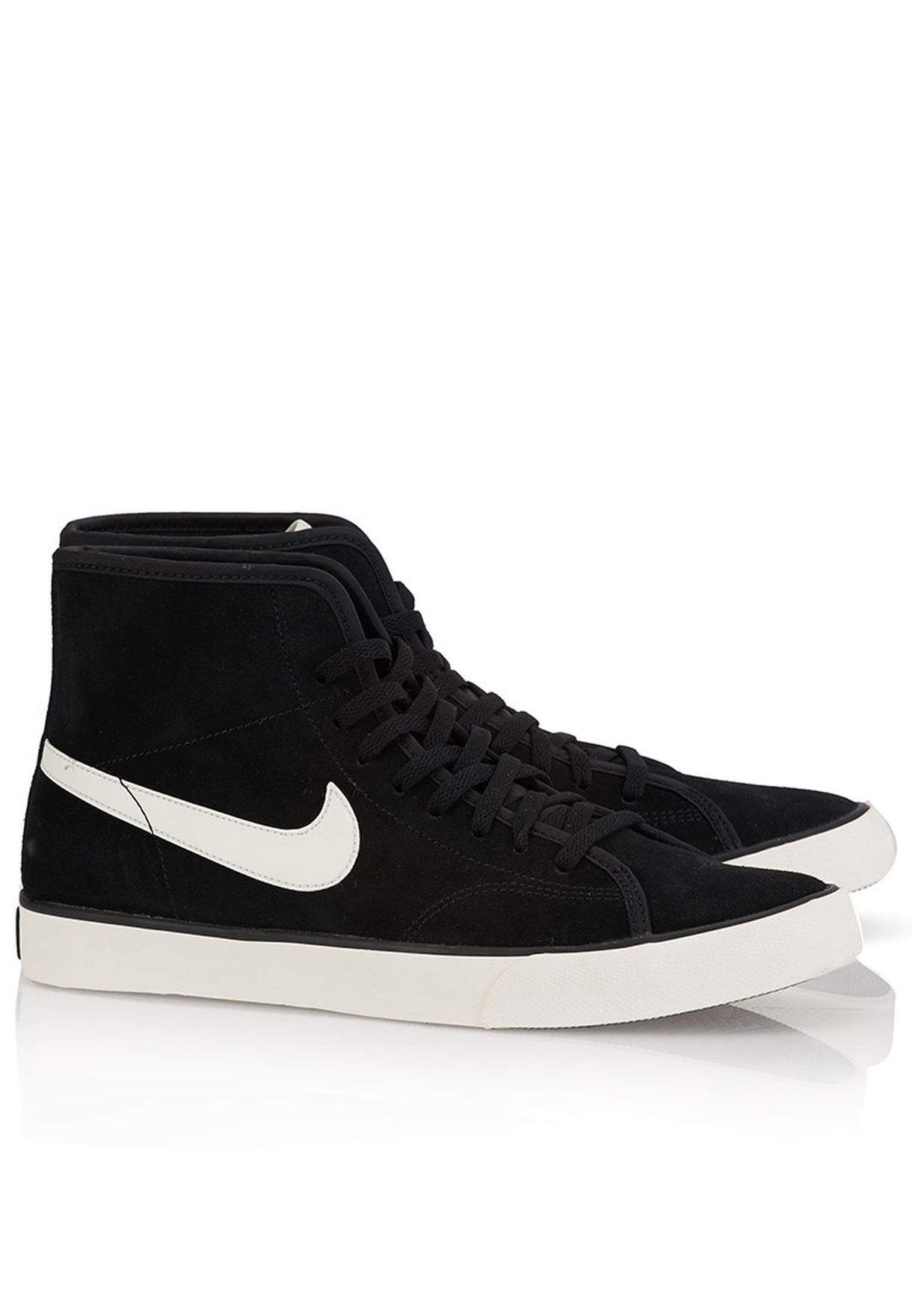Shop Nike black Primo Court Mid Suede Sneakers 630656-090 for Women ... a50fe16fd9fa2