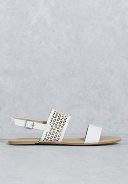 Lasercut Two Band Sandals