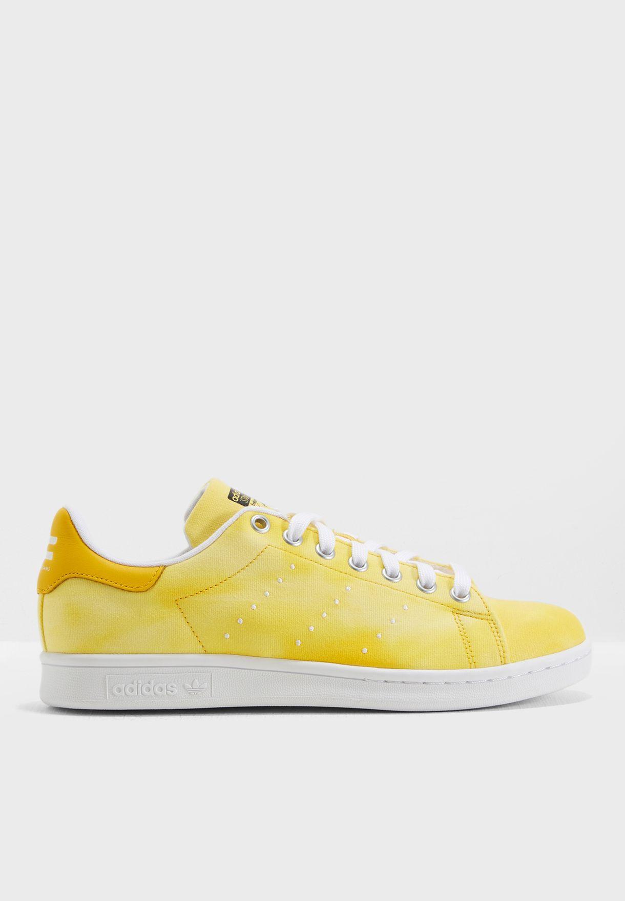 9951e7f42 Shop adidas Originals yellow Pharrell Williams Hu Holi Stan Smith ...