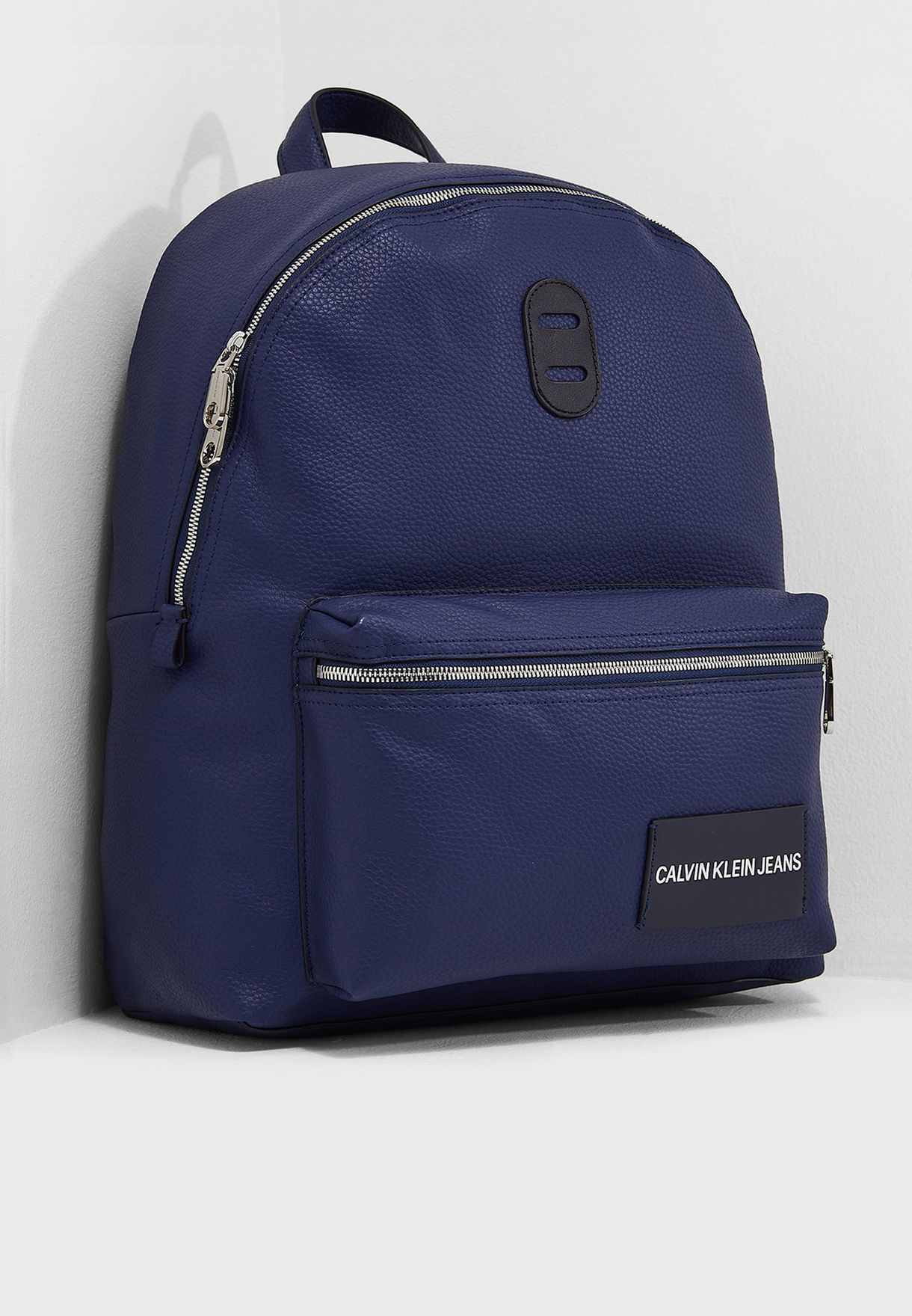 644f6db30596 Shop Calvin Klein Jeans navy Pebble Essential Campus Backpack ...