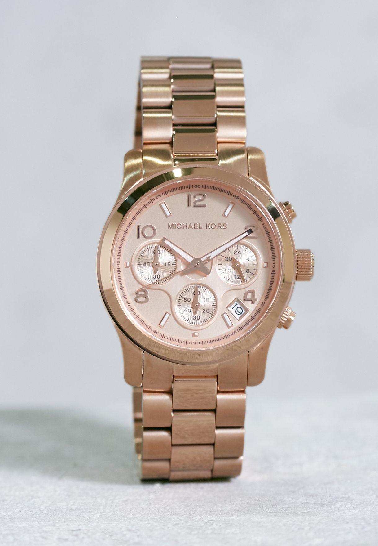 b905f60ef9c2 Shop Michael Kors gold Runway Watch MK5128 for Women in UAE - MI534AC41OFA
