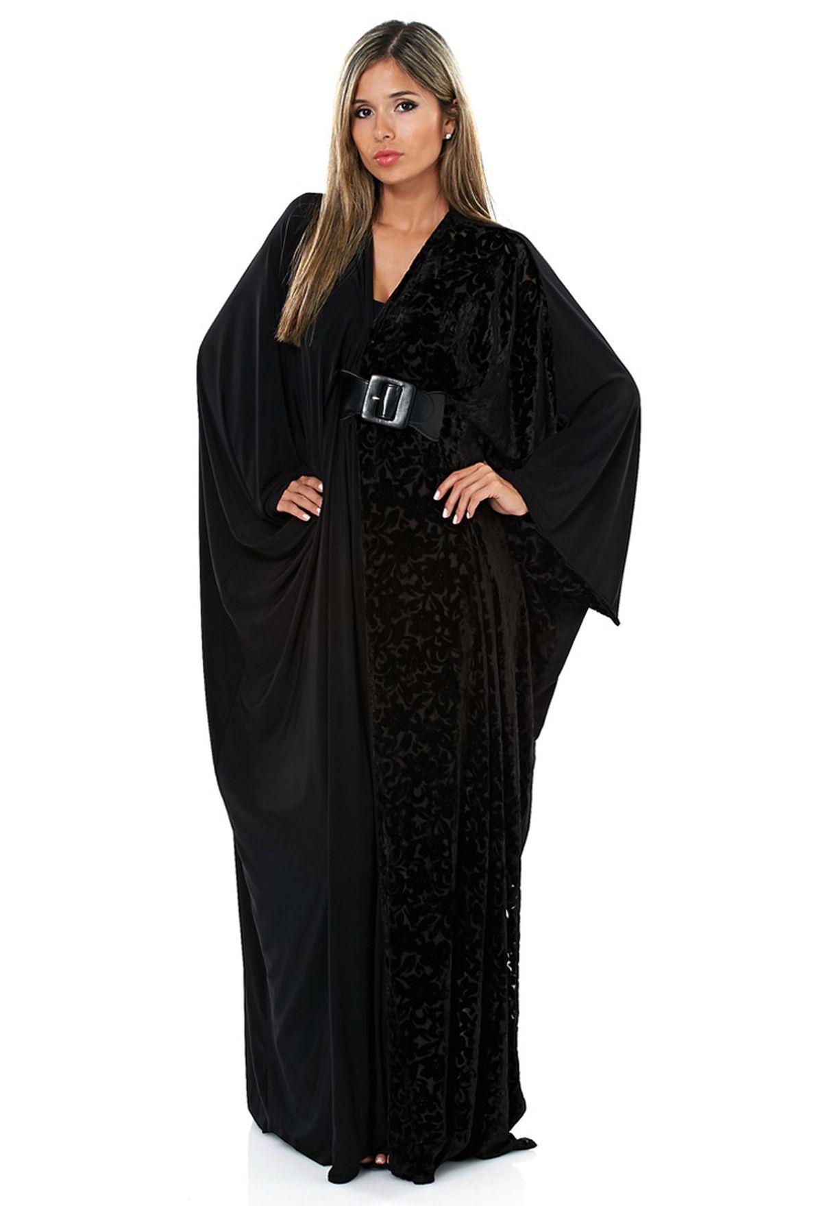 6494ee799 تسوق عباية مع مخمل ماركة هيا كلوزيت لون أسود في السعودية - HA212AT41FVE