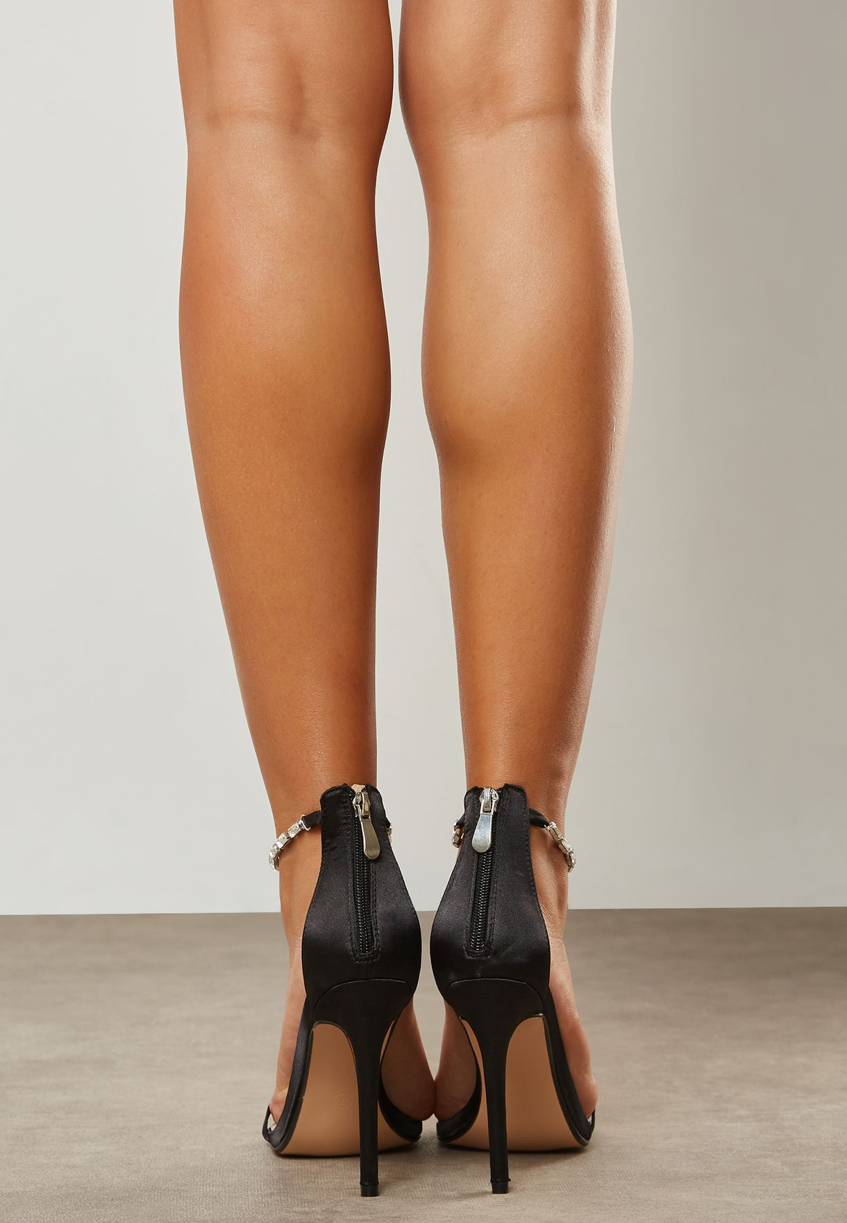 Rizzo Gem Ankle Detail Barely There Heel