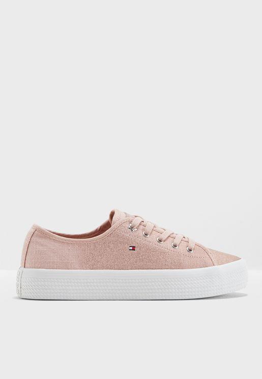 Metallic Flatform Sneaker