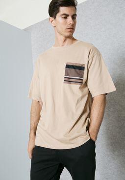 Stripe Pocket T-Shirt
