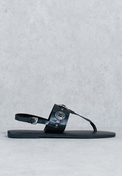 Metal Emblem Sandal