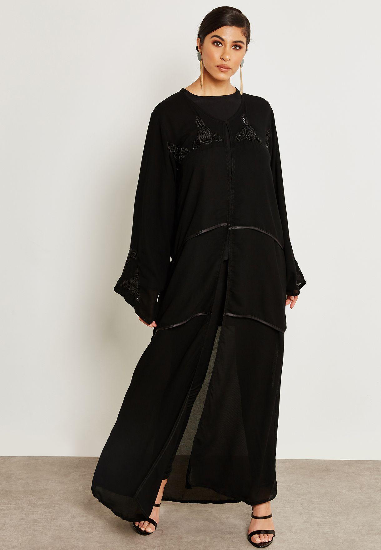 Handwork Top Layered Abaya