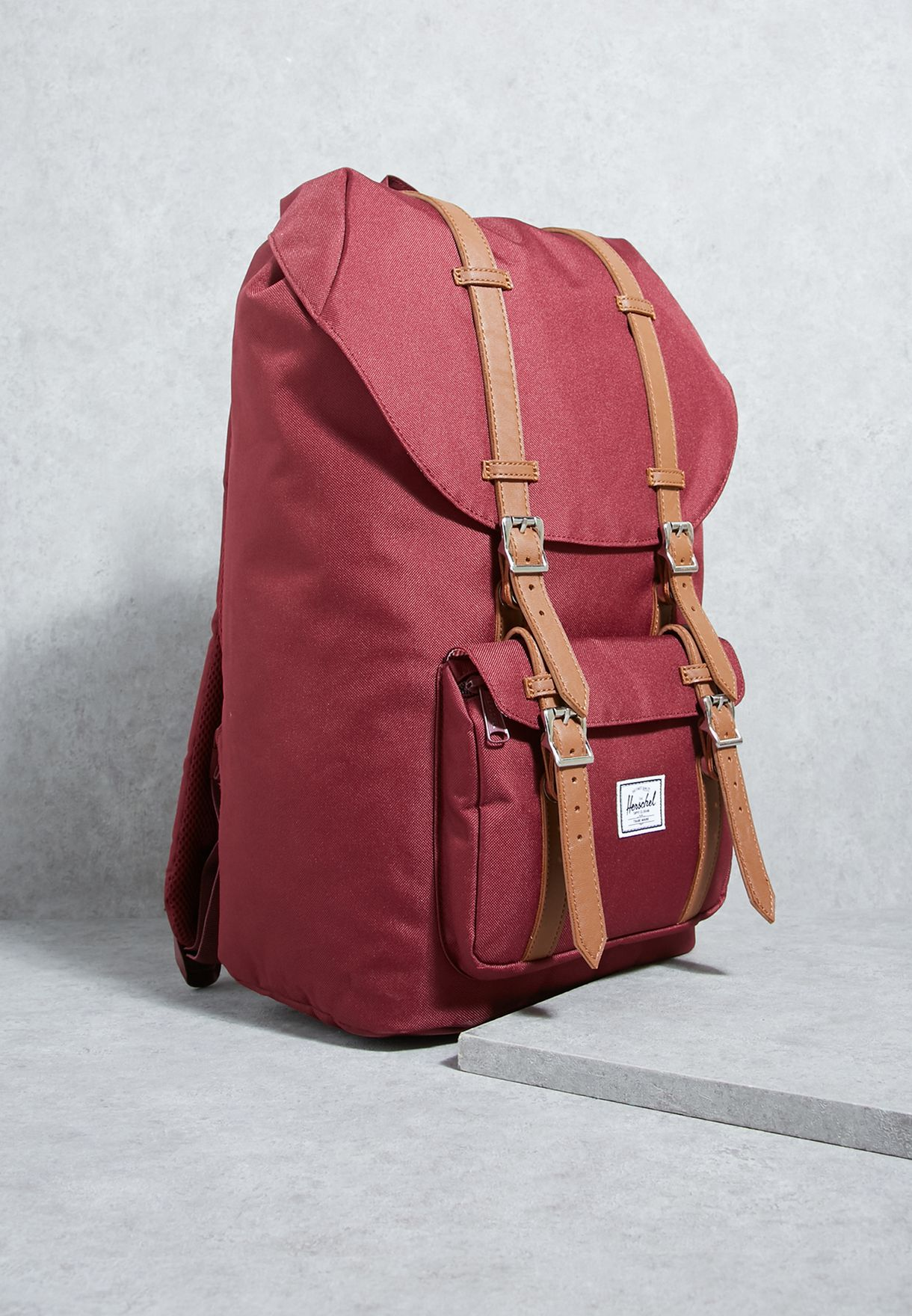 a5f76dc3b Shop Herschel red Little America Backpack 10014-00746-OS for Men in ...