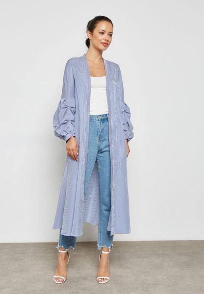 Striped Longline Kimono
