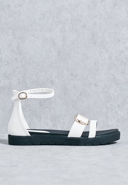 Ankle Strap Buckled Sandals