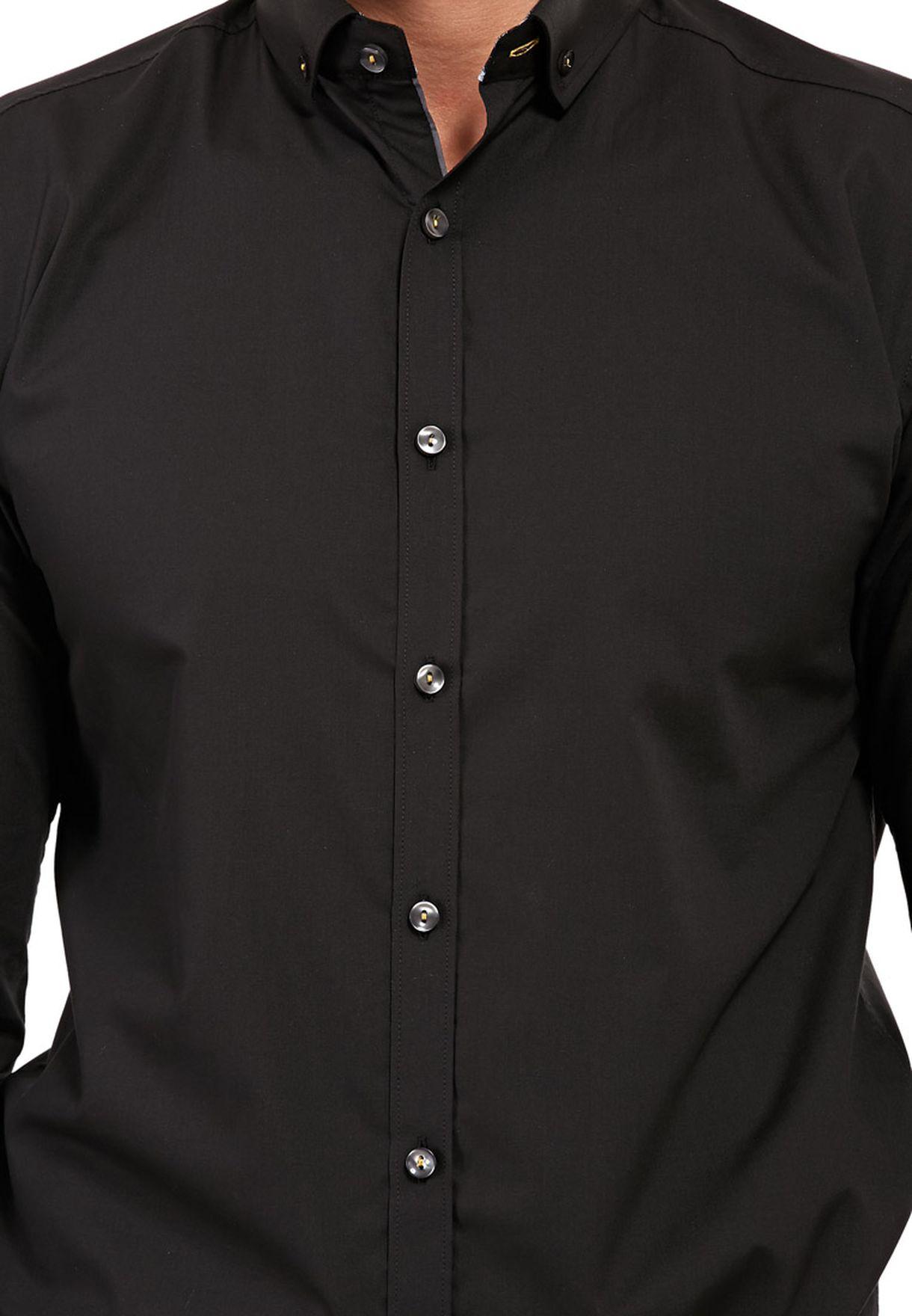 76622274 Shop Selectedhomme black One Mix Mile Shirt Ls Noos F for Men in ...