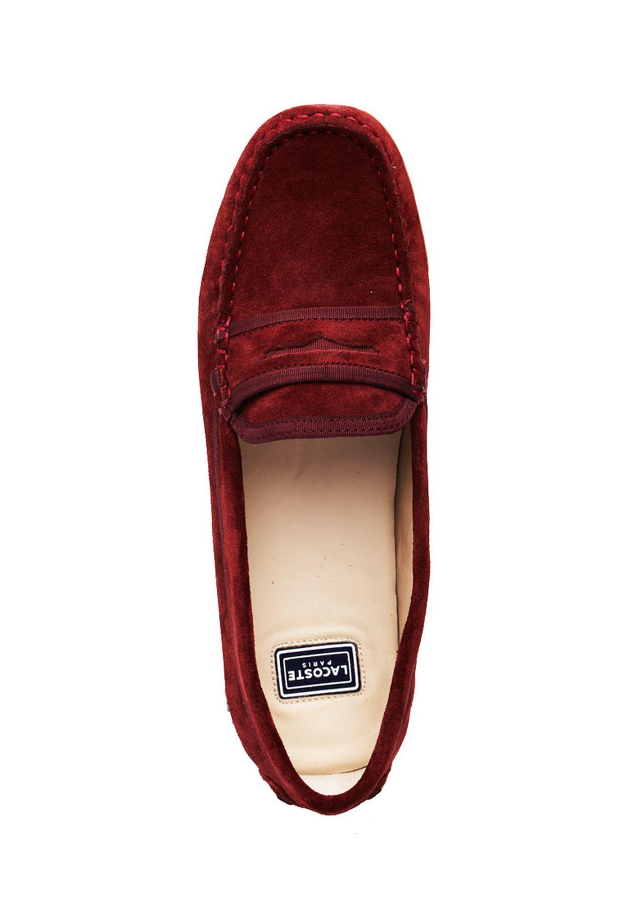 3c986b6fd312d5 Shop Lacoste browns Concours Moccasin Shoes 24CLW0028-FD8 for Women ...