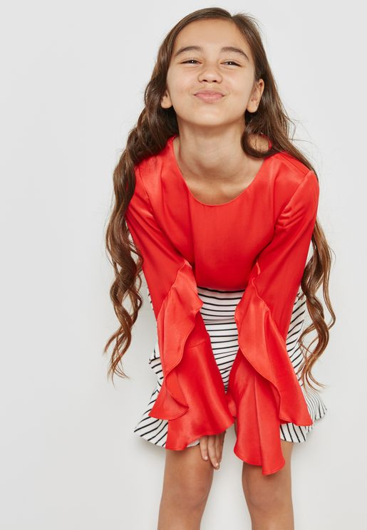 Tween Frill Detail Top