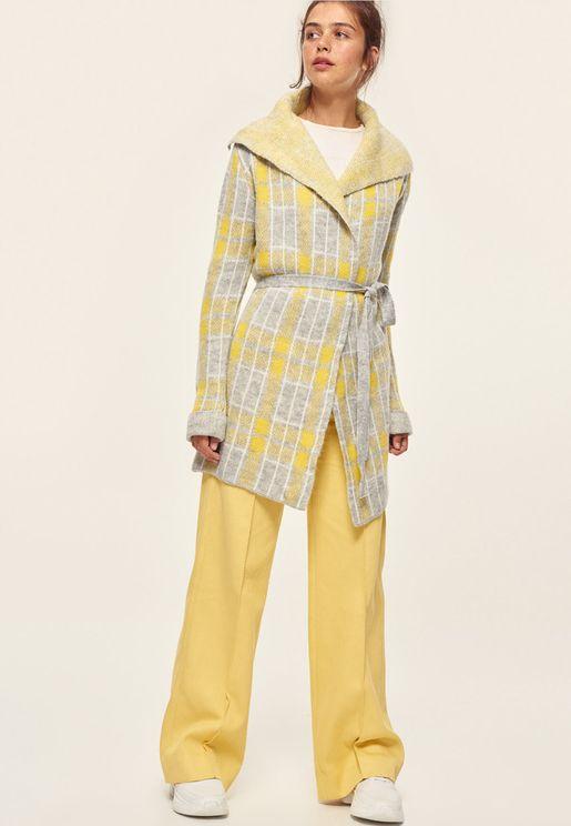 Tie Waist Knitted Cardigan