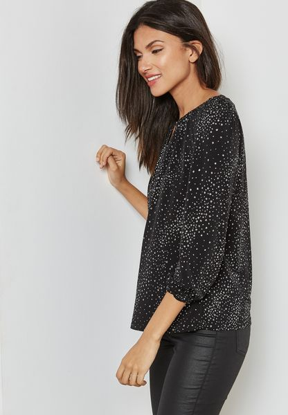 Printed Shimmer Top