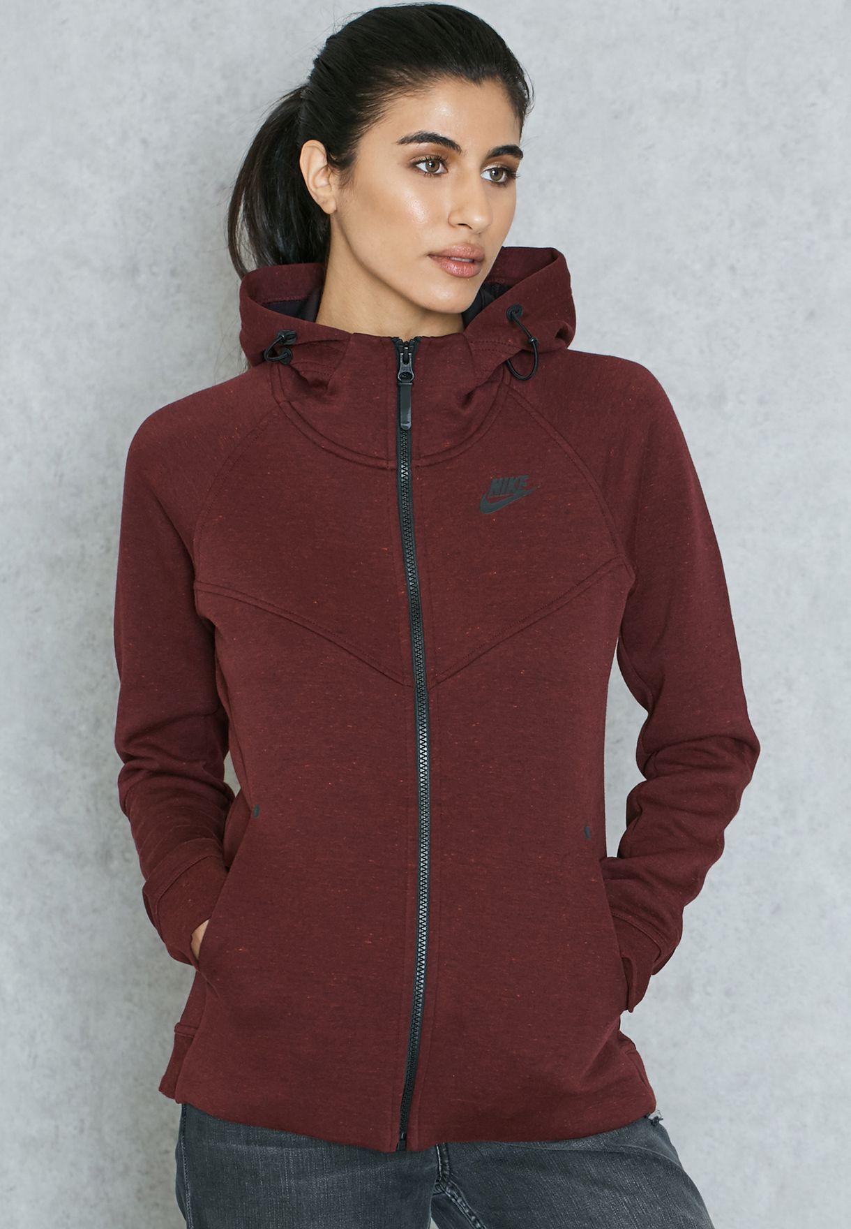 545e824b89bf Shop Nike purple Tech Fleece Full Zip Hoodie 842845-681 for Women in Qatar  - NI727AT31NSA
