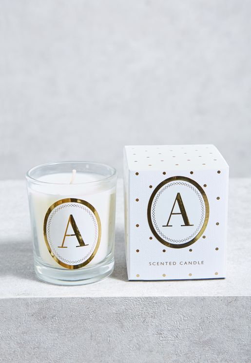 A Alphabet Votive Candle
