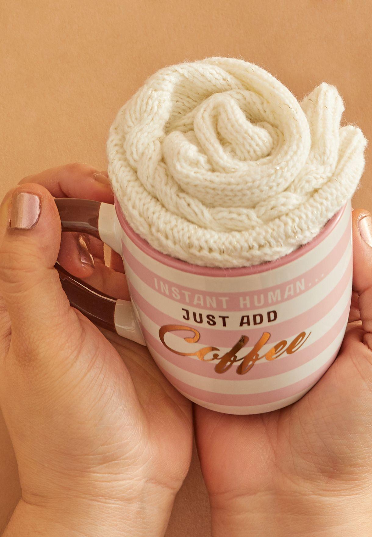 Mug and Cozy Socks Set