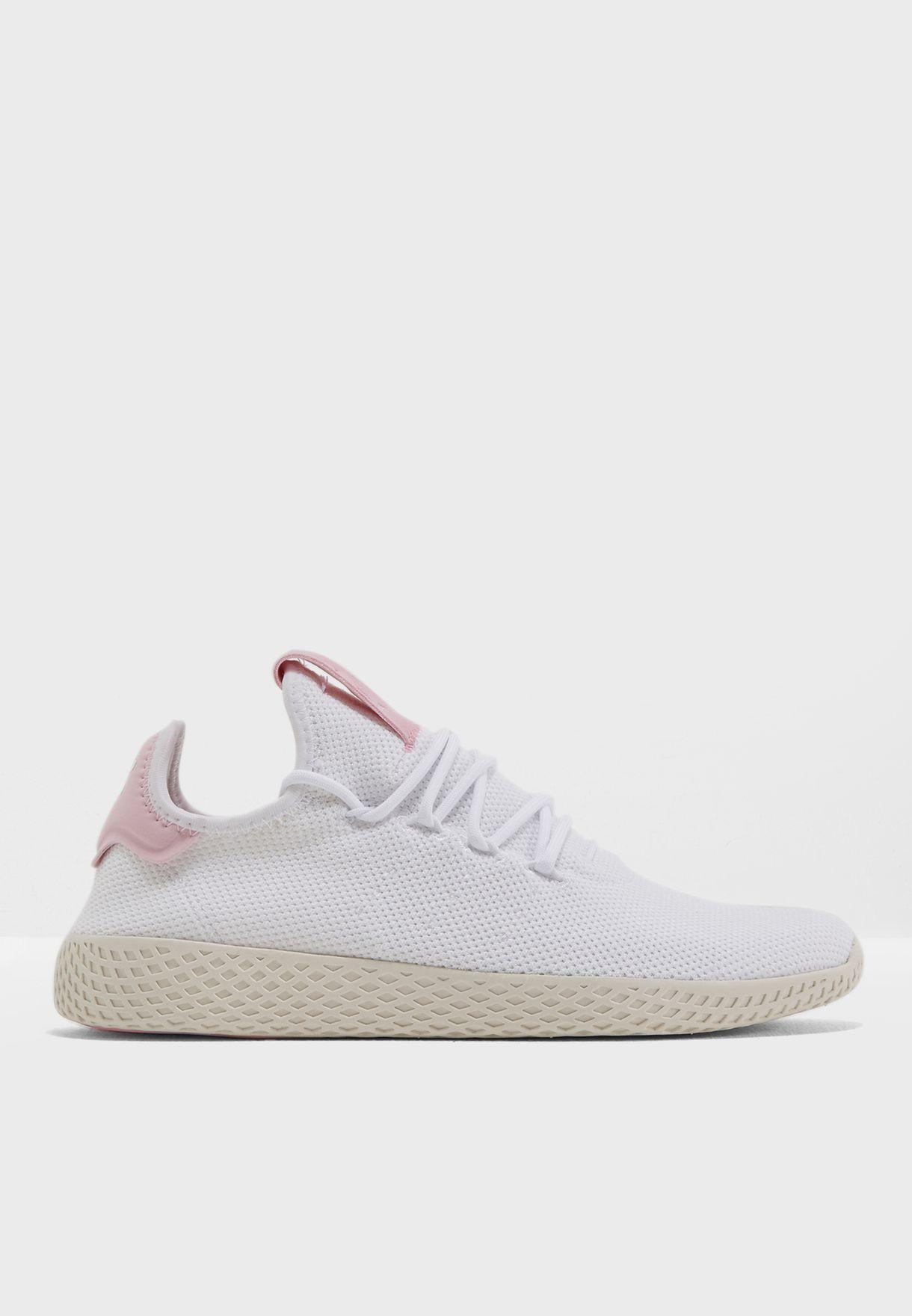 3b310a2ca Shop adidas Originals white Pharrell Williams Hu Tennis DB2558 for ...