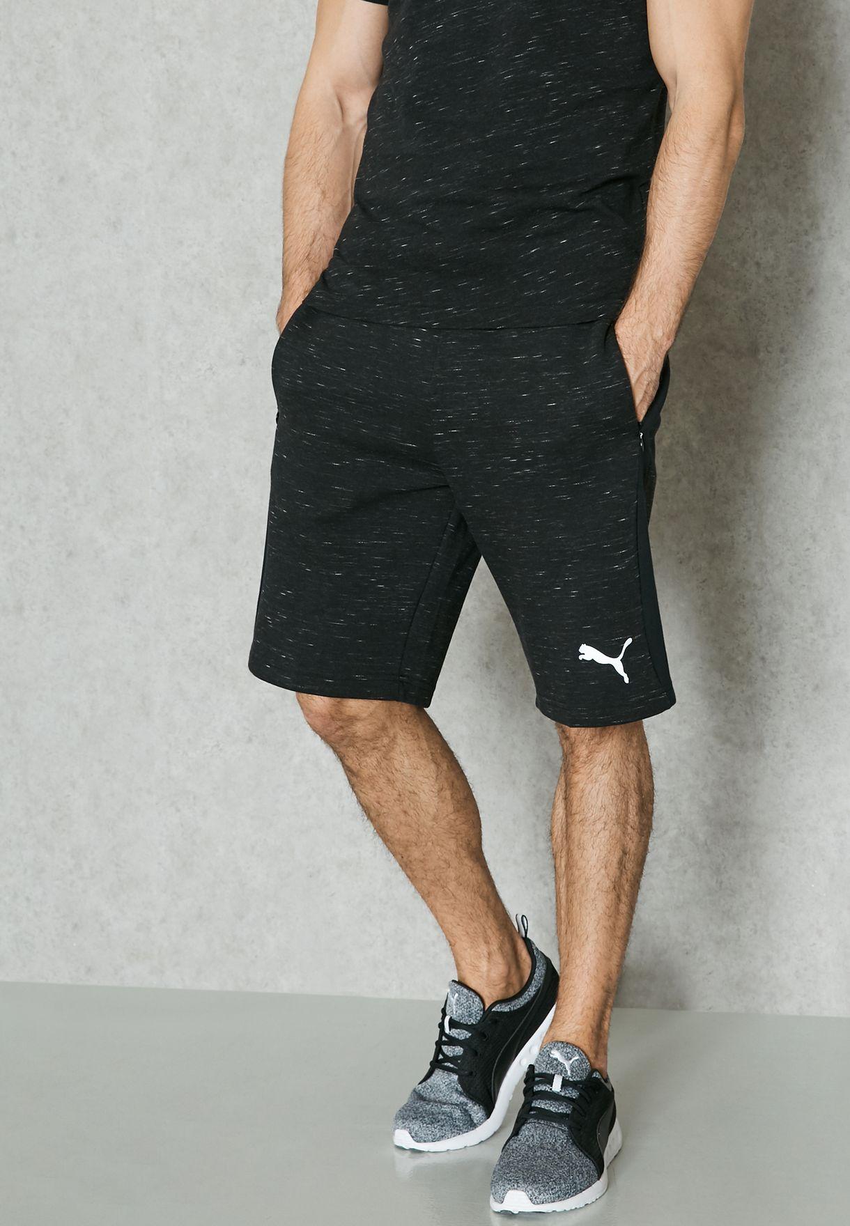 6f471f196c3e Shop PUMA black Evostripe Spaceknit Shorts 59062901 for Men in UAE -  PU020AT31ECY