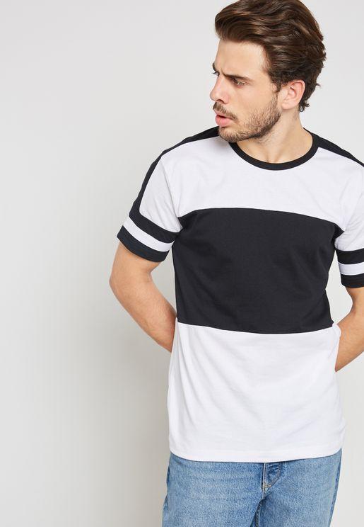 Colourblock Crew Neck T-Shirt