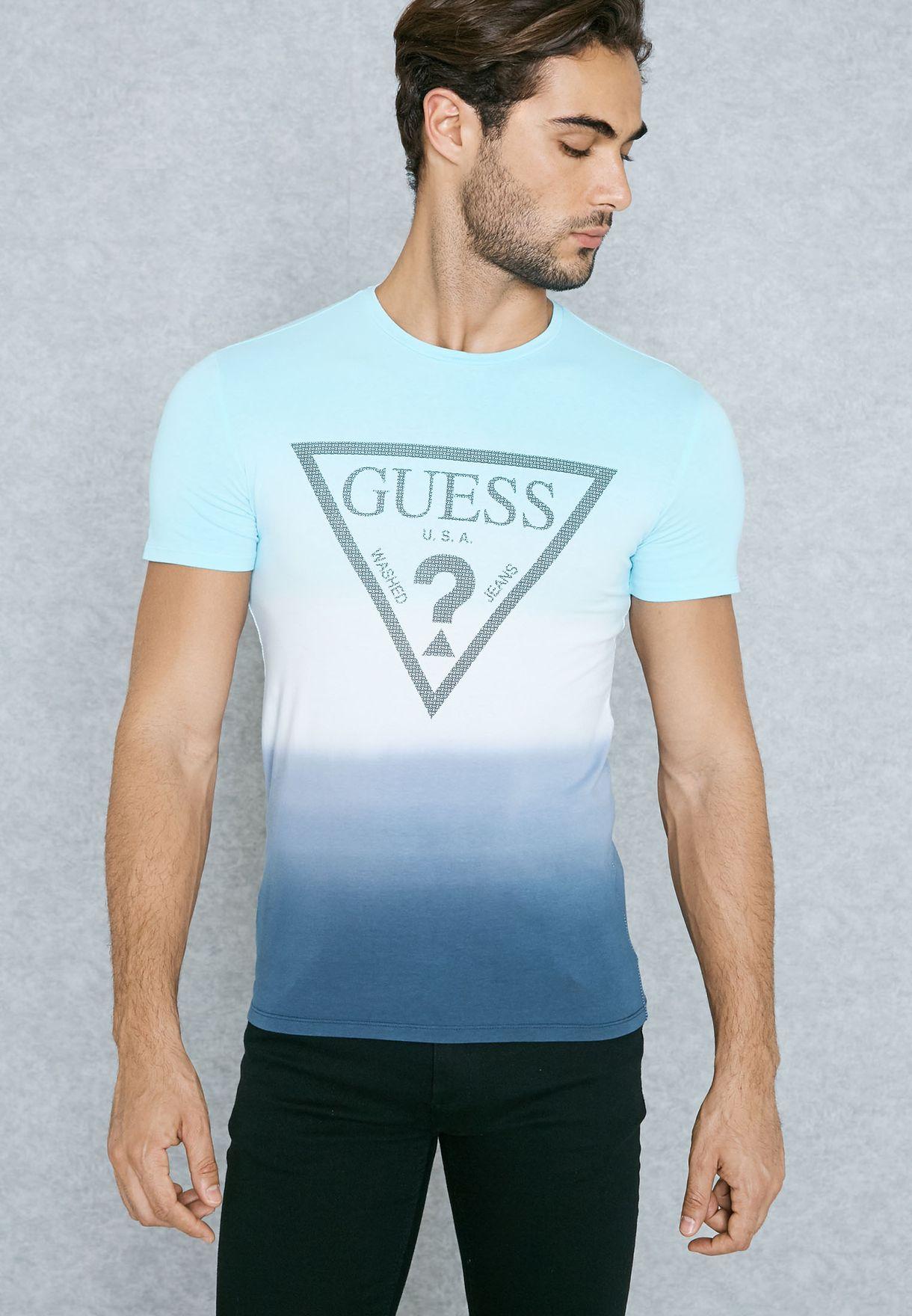 d196ee46bd86 Shop Guess multicolor Frame T-Shirt M72I58J1300 for Men in Bahrain ...