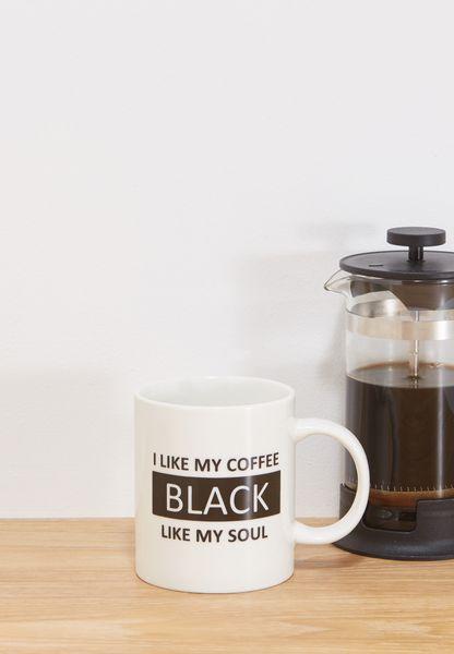 I Like My Coffee Black Like My Soul Mug