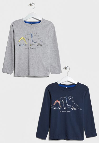Little 2 Pack Printed T-Shirts