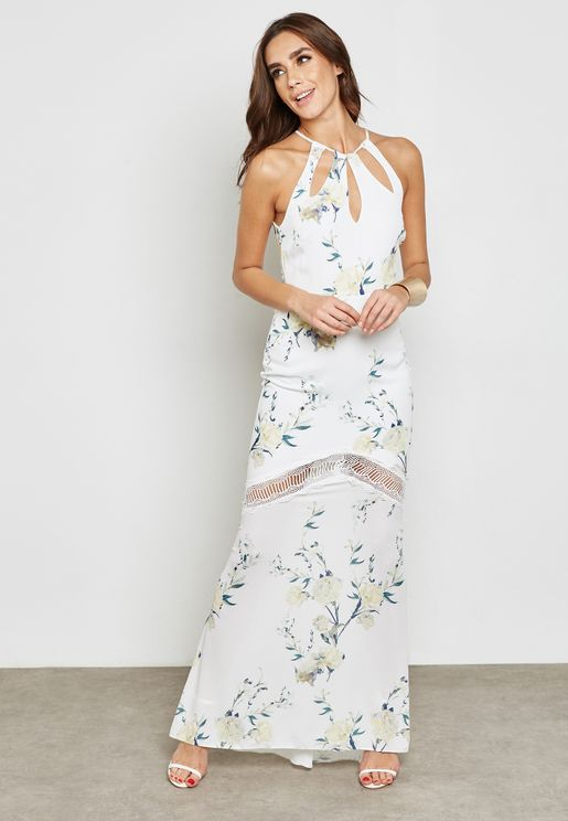 Halter Cut Out Dress