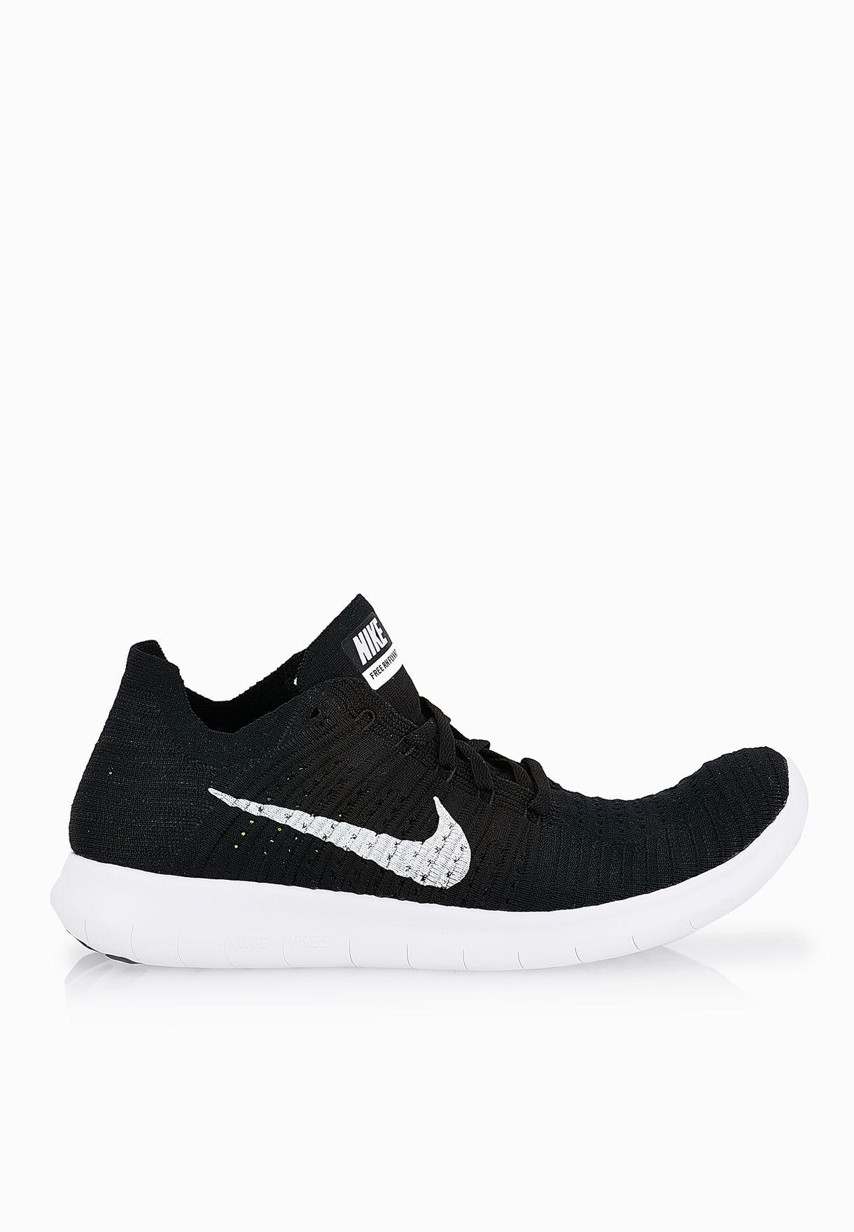 c15032ae8f3b7 Shop Nike black Free RN Flyknit 831069-001 for Men in UAE - NI727SH31SEM