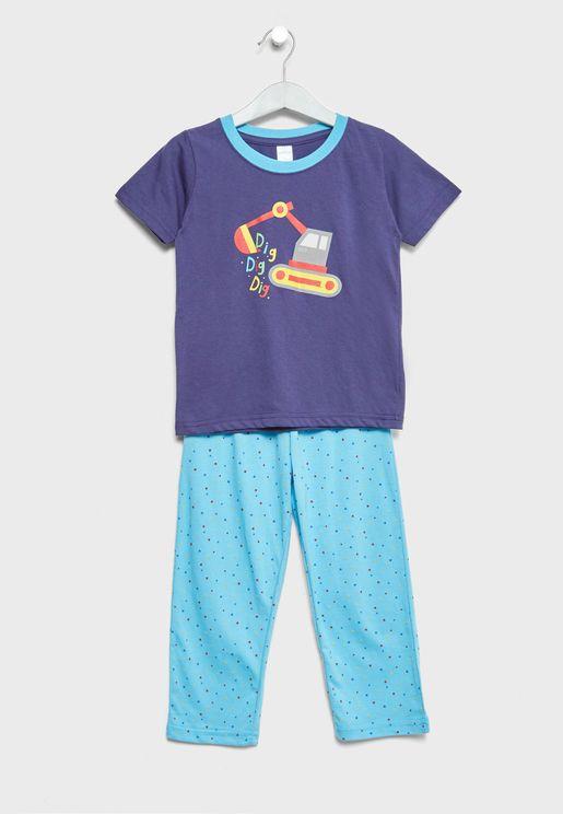 Little T-Shirt + Pyjamas Set