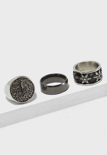 3 Pack Biker Rings