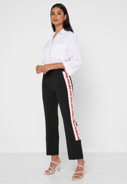 Side Stripe Embellished Joggers