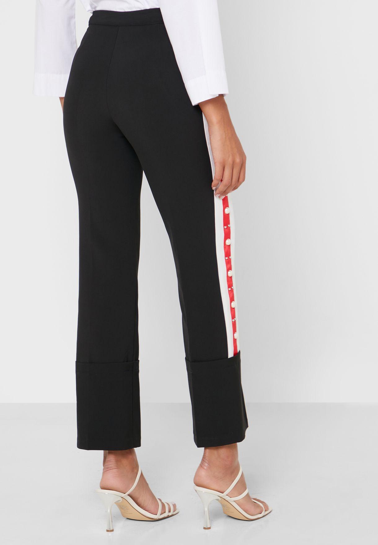 Side Stripe Embellished Joggers