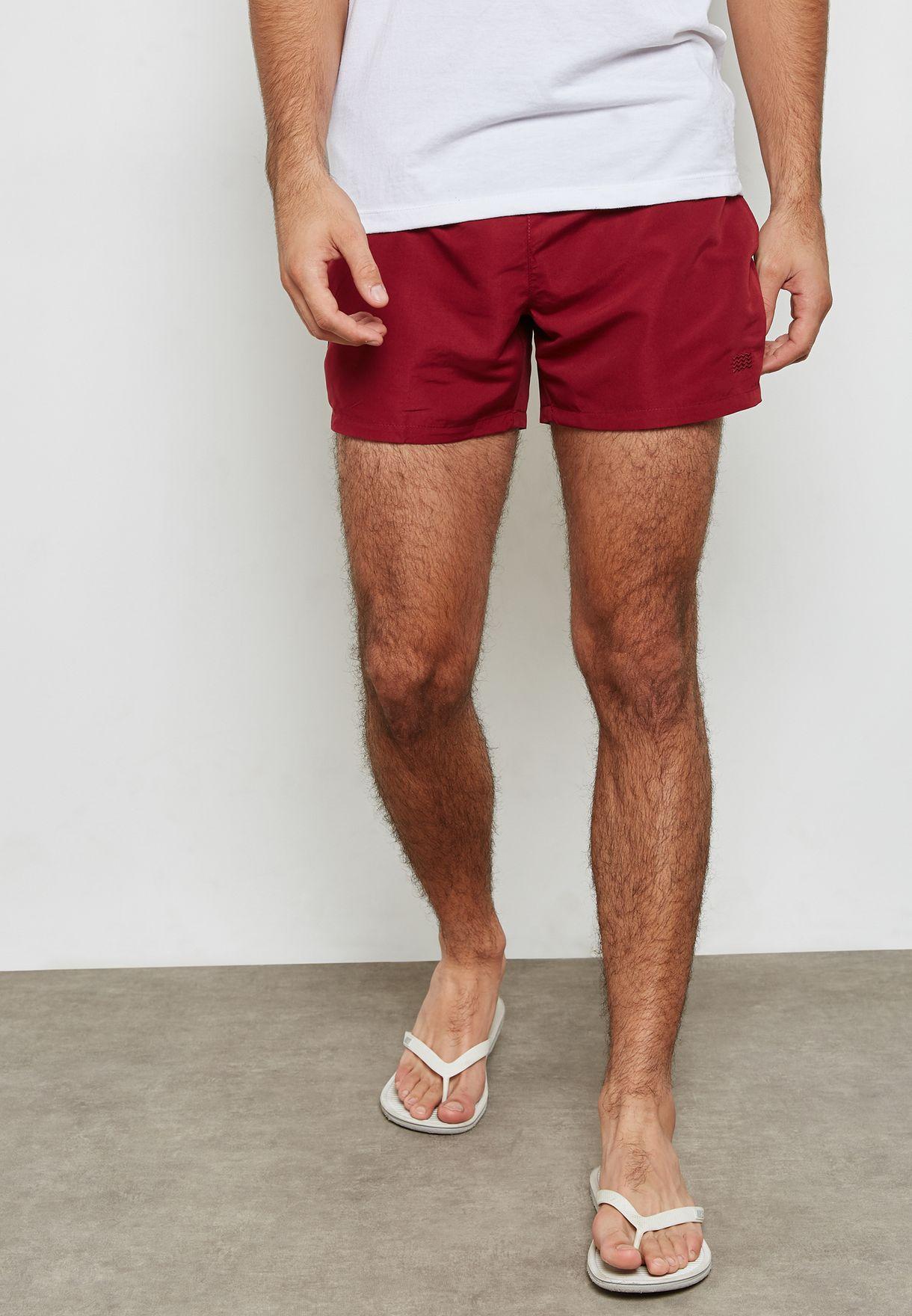 9beb60f713 Shop Topman burgundy Essential Swim Shorts 33L13NBRG for Men in ...