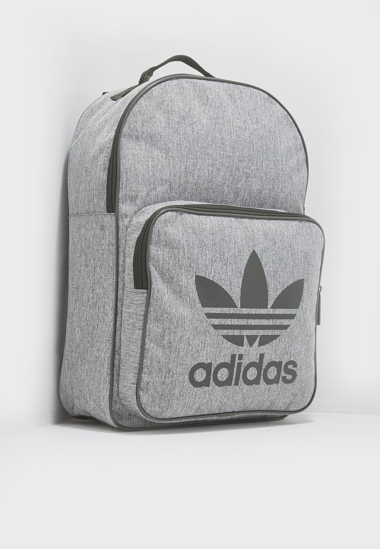 Shop adidas Originals grey Classic Trefoil Backpack CD6058 for Men ... e19a5af3fc75f