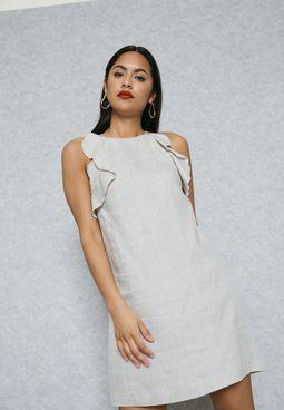 High Neck Frill Dress