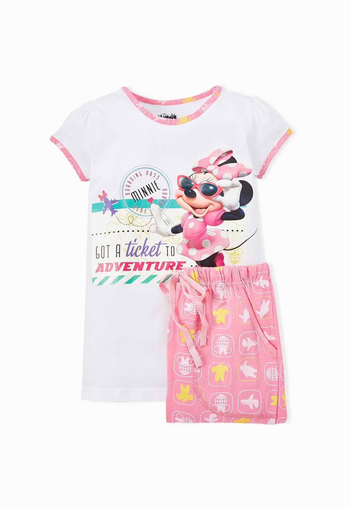 38b139477ec3 Shop Disney white Kids Pyjama Set NCGDGSW7 for Kids in UAE ...