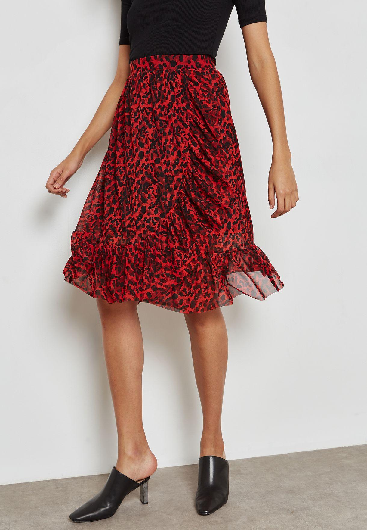 Wrap Printed Skirt