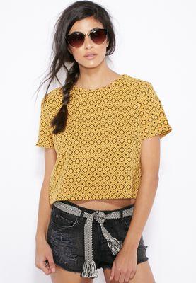 MANGO Crop T-Shirt