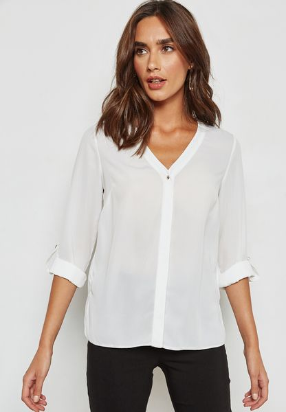 V-Neck Placket Shirt