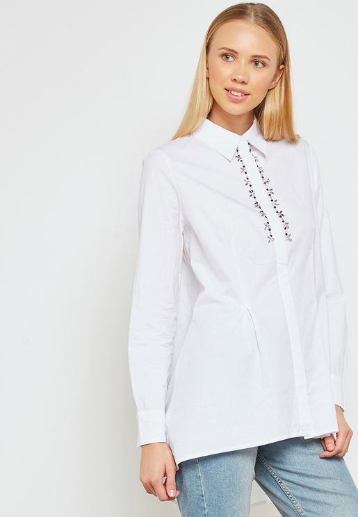 Embellished Detail Shirt