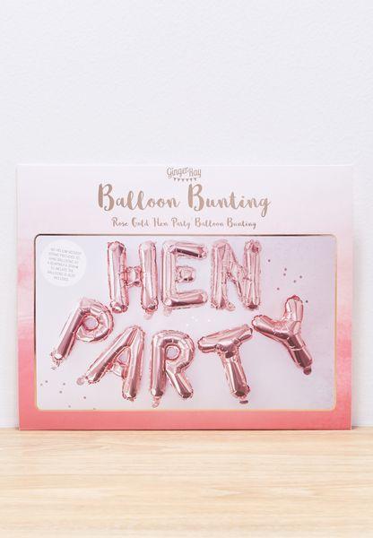 Hen Party Balloon Bunting