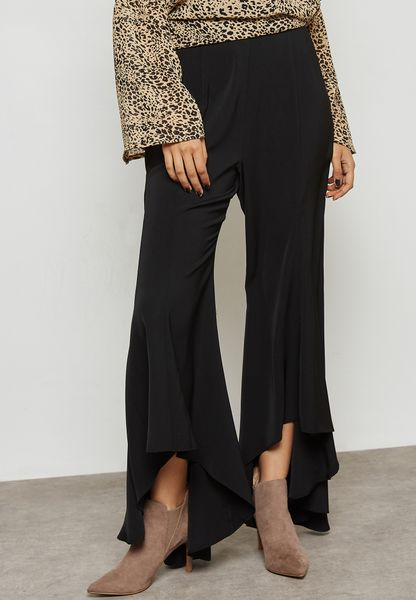 Asymmetric Flare Pants