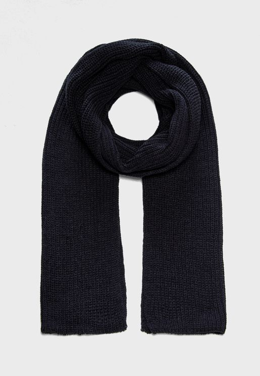 Ribbed Knit Scarf
