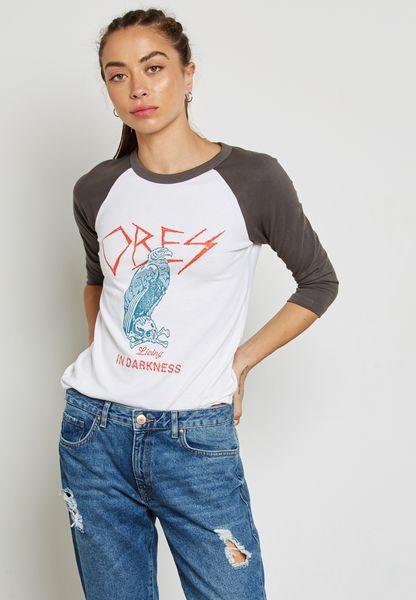 Raglan Printed T-Shirt